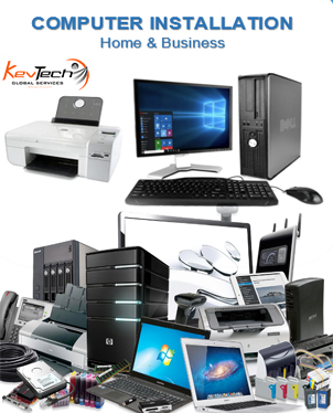 computer installations Home and bussiness